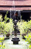 The Khmer Style Sculpture. The Khmer Style Sculpture as a garden decoration stock photos