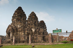 Khmer Style temple in Thailand. This Khmer Style Temple in Lopburi Province, central of Thailand. This place is called by local as Phra Prang Sam Yot Stock Image