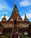 Khmer-Tempel Ayutthaya Stockbild
