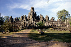 Khmer temple- Angkor Wat ruins, Cambodi Royalty Free Stock Images