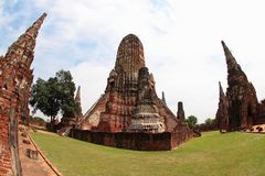 Khmer temple in Ayutthaya Royalty Free Stock Photo
