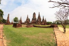 Khmer temple in Ayutthaya Royalty Free Stock Photography
