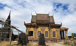 A Khmer temple on Bokor Hill in Kampot, Cambodia Royalty Free Stock Photos