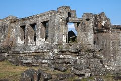 Derelict building at the 11th century Preah Vihear Temple complex. Khmer temple on the border of Cambodia and Thailand, in the Dangrek Mountains of Cambodia Stock Images