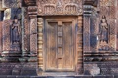 Khmer temple door Stock Photos