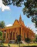 Khmer temple in An Giang. Vietnam. An Giang is home to many religious Khmer people Royalty Free Stock Photo