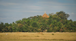 A Khmer temple on the hill in Ha Tien, Vietnam Royalty Free Stock Photo