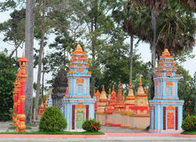 Khmer temple in Mekong Delta, Vietnam. One of famous Khmer temple in Mekong Delta, Vietnam. The Mekong Delta is home to many religious people Khmer royalty free stock image