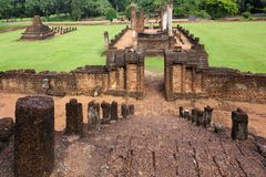 Khmer temple ruins Stock Photo