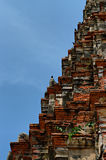 Khmer towerb and crows Royalty Free Stock Images