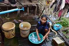 Khmer village in Cambodia Stock Photography