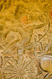 Khmer warrior bas relief Royalty Free Stock Image
