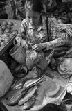A Khmer woman at the market in Kep town, Cambodia Stock Image