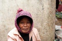 Khmer woman at marketplace. Cambodia Stock Photography