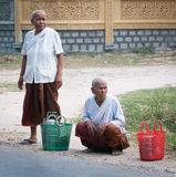 Khmer women with traditional dress in southern Vietnam Royalty Free Stock Images