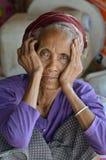 Khmu种族妇女 库存图片