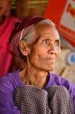 Khmu种族妇女 免版税库存照片