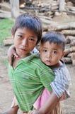 Khmu kids. Royalty Free Stock Photo