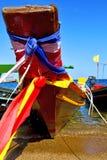 kho海湾小岛白色e小船的泰国亚洲和南 免版税图库摄影