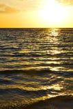 kho陶海湾小岛日落太阳的泰国亚洲和南 库存图片