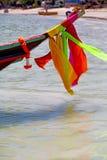 kho陶海湾小岛白色和南船锚的亚洲 免版税库存照片