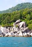 Kho Nang元酸值的陶,泰国常去之岛 免版税库存照片