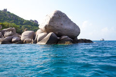 Kho Nang元酸值的陶,泰国常去之岛 免版税库存图片