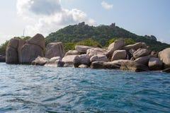 Kho Nang元酸值的陶,泰国常去之岛 库存图片