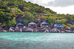 Kho Nang Juan kurort na wyspie w Koh Tao, Thailand Obraz Royalty Free