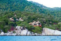 Kho Nang Juan kurort na wyspie w Koh Tao, Thailand Zdjęcie Royalty Free