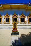 Kho samui bangkok     in thailand incision pavement gold  temple Royalty Free Stock Photo