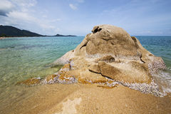 Kho samui bay isle white  beach  south china sea Royalty Free Stock Photo