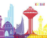 Khobar skyline pop Royalty Free Stock Image