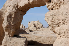 Khocho Ruinen Stockfotografie