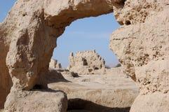 Khocho Ruins stock photography