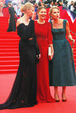 Khodchenkova, Kozhevnikova and Litvinova at Moscow Film Festival Royalty Free Stock Photography