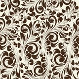 Khohloma style seamless floral pattern. Royalty Free Stock Image