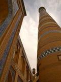 Khoja Minaret. Low-angle shooting of Khoja Minaret stock image