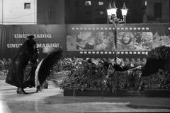 Khojaly sörjanden på årsdagen av massakern, i Baku, huvudstad av Azerbajdzjan Arkivbild