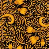 Khokhloma adornó textura inconsútil Foto de archivo