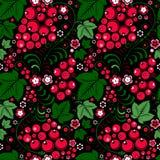 Khokhloma seamless pattern in slavic folk style with berries. Khokhloma  pattern in slavic folk style with berries Stock Image