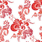 Khokhloma pattern. Khokhloma - traditional Russian painting style. Vector illustration Royalty Free Stock Photo