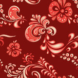 Khokhloma pattern. Khokhloma - traditional Russian painting style. Vector illustration Royalty Free Stock Image