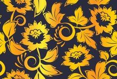 Khokhloma russian vintage seamless pattern vector Stock Photography