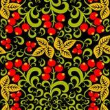 Khokhloma Seamless pattern background Stock Photos