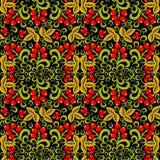Khokhloma Seamless pattern background Royalty Free Stock Photos