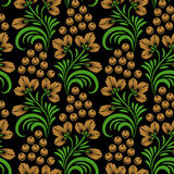 Khokhloma seamless pattern Royalty Free Stock Images