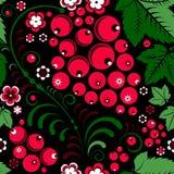 Khokhloma seamless pattern in slavic folk style with berries. Khokhloma  seamless pattern in slavic folk style with berries Stock Image