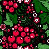 Khokhloma seamless pattern in slavic folk style with berries. Khokhloma  seamless pattern in slavic folk style with berries Royalty Free Stock Photography