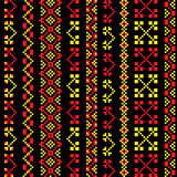 Khokhloma traditionnel de broderie illustration de vecteur